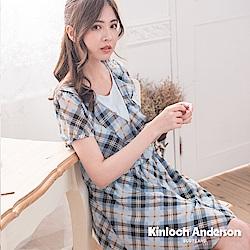 【Kinloch Anderson金安德森女裝】V領荷葉雪紡洋裝