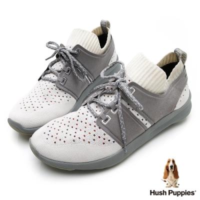 Hush Puppies Bounce Max 高效彈力男休閒鞋-白色
