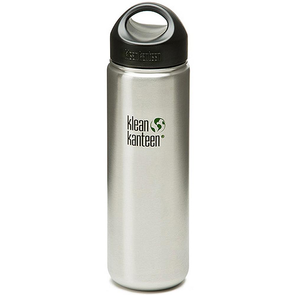 美國Klean Kanteen 寬口不鏽鋼冷水瓶800ml 原鋼色