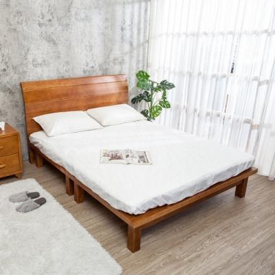 Boden-森林家具 柯特6尺雙人加大全實木床架(床頭片+床底)(不含床墊)