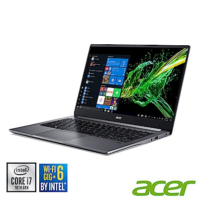 (福利品)Acer SF314-57-787W 14吋筆電(i7-1065 G7/ 8G/ 512G SSD/ Swift 3/ 灰)