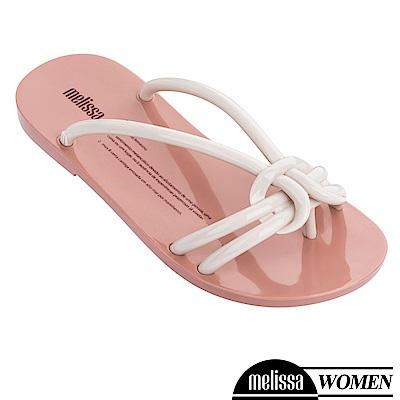 Melissa 扭結線條質感涼拖鞋-白