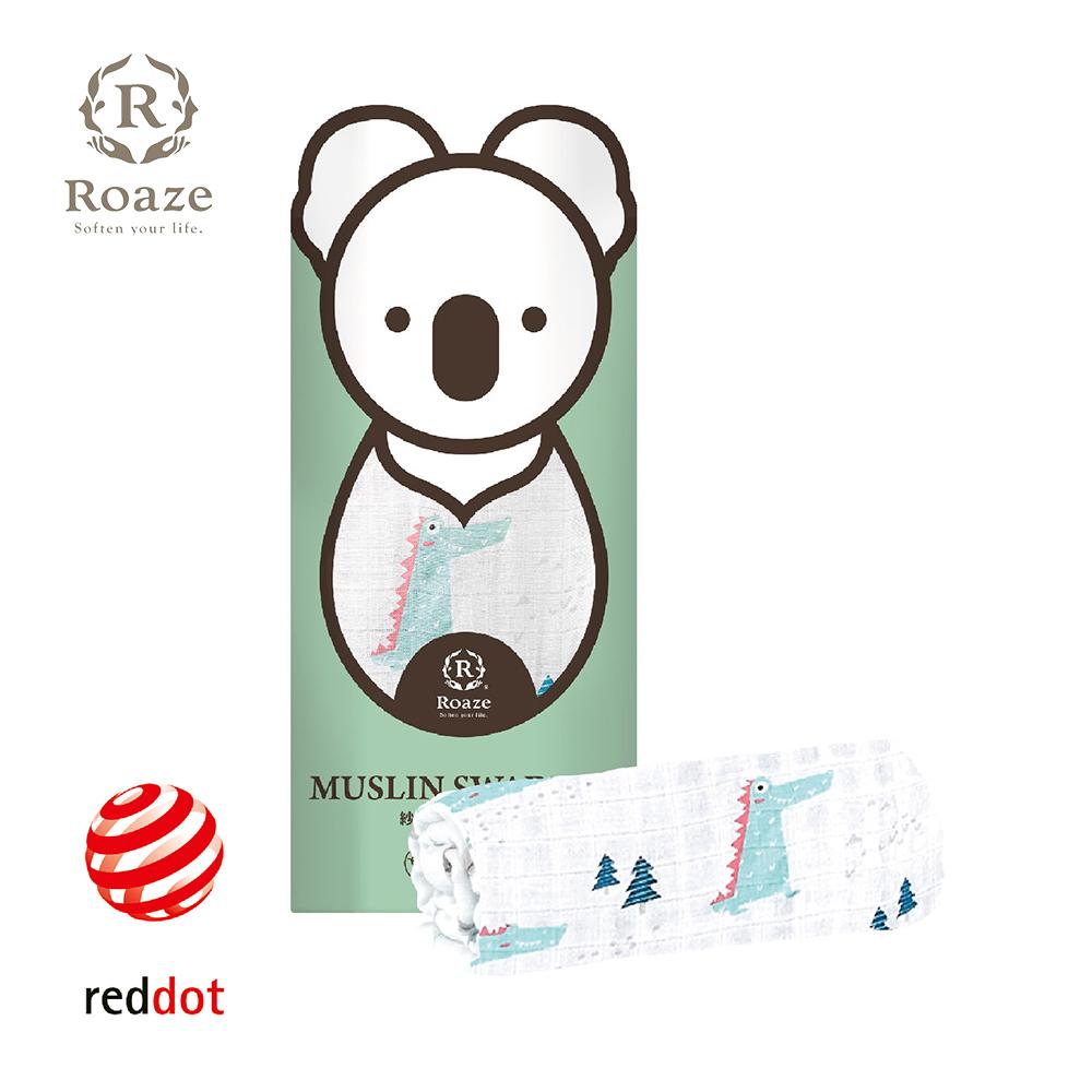 【Roaze 柔仕】 棉柔包巾毯 -叢林小鱷