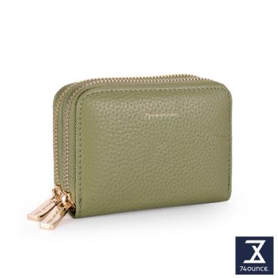 74盎司 Tender Lady 真皮防RFID雙層卡片零錢包[LN-765-TE-W]草綠