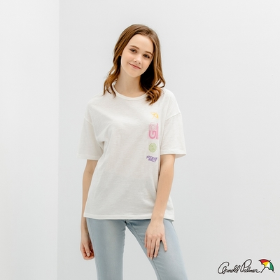 Arnold Palmer -女裝-未來感訊息印花TEE-白色