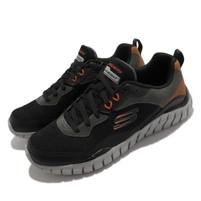 Skechers 休閒鞋 Overhaul Betley 運動鞋 男鞋 緩衝 保護 穩定 百搭 透氣網布 黑 灰 232046-BKCC
