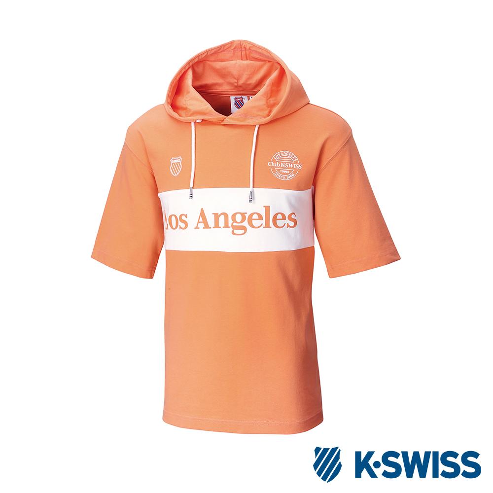 K-SWISS Club Hood T-Shirt短袖連帽上衣-男女-橘