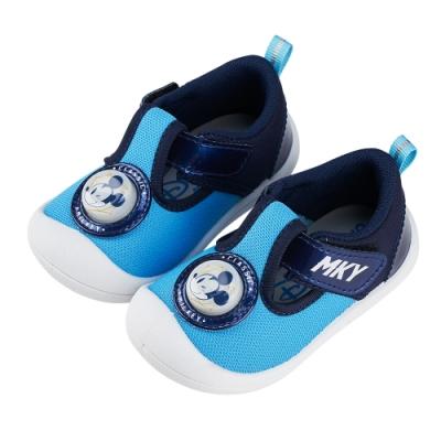 迪士尼童鞋  米奇  吸睛電燈寶寶鞋-藍