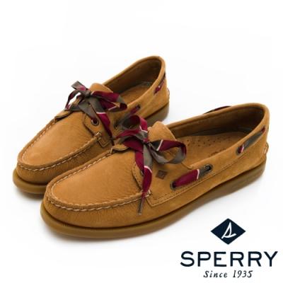 SPERRY 皇家學院經典手工牛皮帆船鞋(女)-駝色
