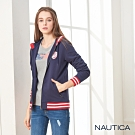 Nautica女裝磨毛連帽外套-深藍