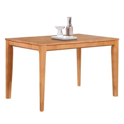 【AT HOME】北歐鄉村4尺原木色實木餐桌/工作桌/洽談桌(羅馬尼亞)