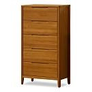 時尚屋  米堤柚木2尺五斗櫃  寬60.5x深40x高116.7cm