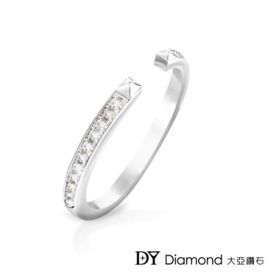 DY Diamond 大亞鑽石 L.Y.A輕珠寶 18K白金 時尚 鑽石線戒