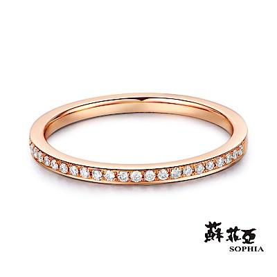 蘇菲亞SOPHIA - 無時無刻玫瑰金鑽石線戒