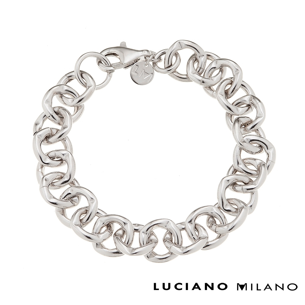 LUCIANO MILANO 率性鎖鏈純銀手環