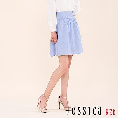 EPISODE Studio - 設計款條紋短裙(淺藍)