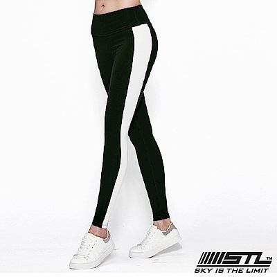 STL legging 9 韓 女 高腰側邊條運動機能拉提褲 高調綠
