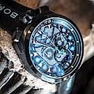 BOMBERG 炸彈錶 BOLT-68 石英藍色珍珠骷髏頭錶-45mm