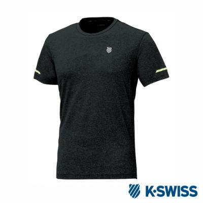 K-SWISS T-Shirt 韓版短袖T恤-男-黑