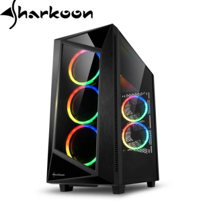 Sharkoon 旋剛 REV200 顛覆者 ARGB 無孔玻璃透側 ATX 電腦機殼