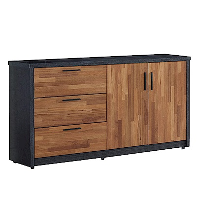 文創集 羅姆時尚5尺雙色二門餐櫃/收納櫃-150x40x82cm免組