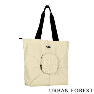 URBAN FOREST都市之森 樹-摺疊托特包/側肩包 淺卡其