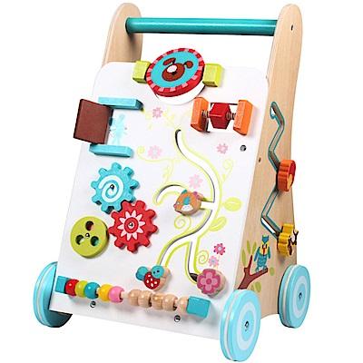 經典木玩 幼兒學步行走玩具手推車(兒童學步車)(12m+)