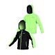FIRESTAR 男雙面穿夾克-連帽外套 保暖外套 J5252-63 黑螢光綠 product thumbnail 1