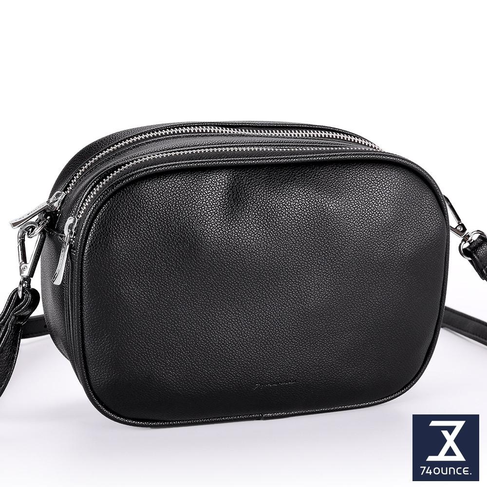 74盎司 Fashion雙層拉鍊小方包[LG-898-FA-W]黑