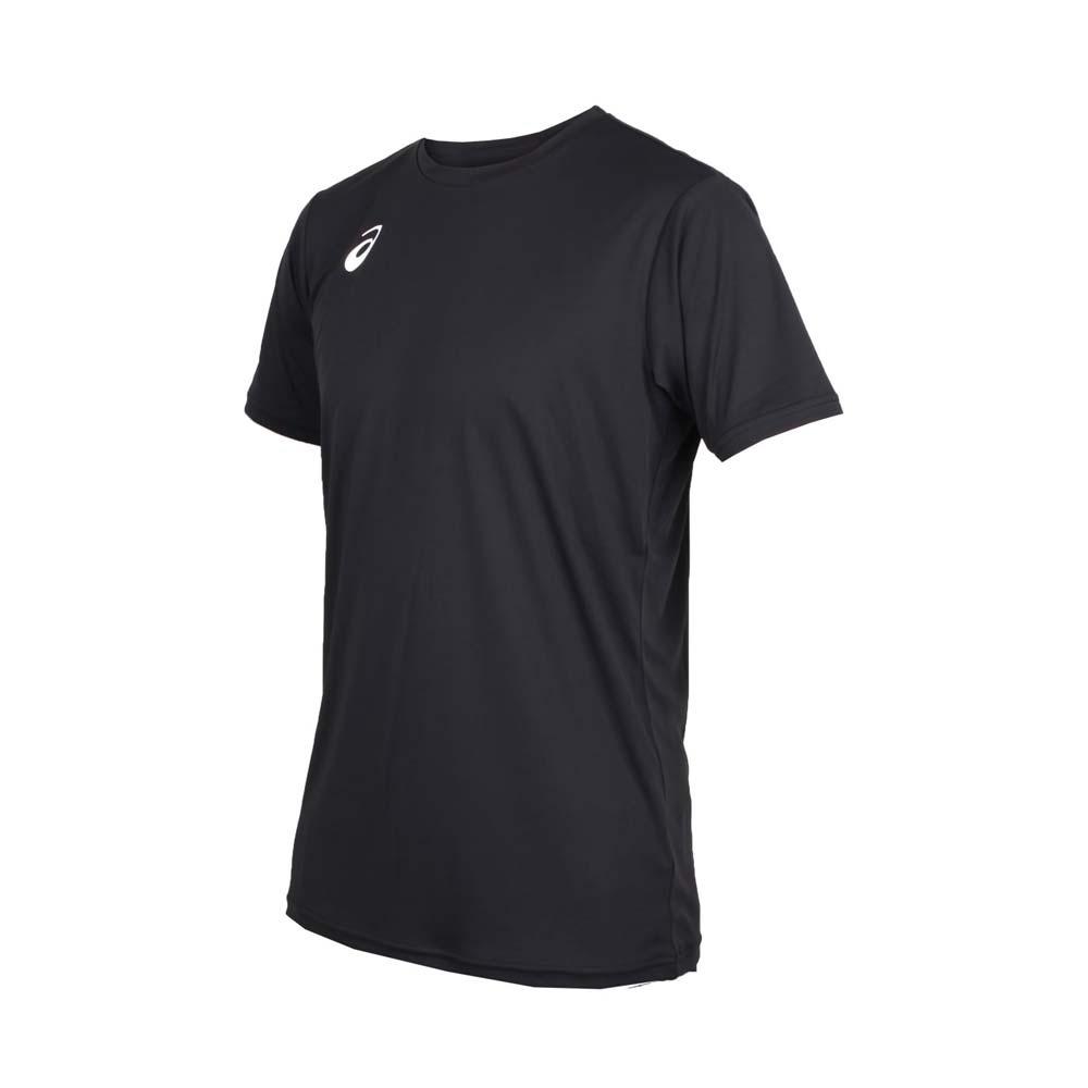 ASICS 男排球短袖T恤-短T 短袖上衣 排球 訓練 亞瑟士 黑白