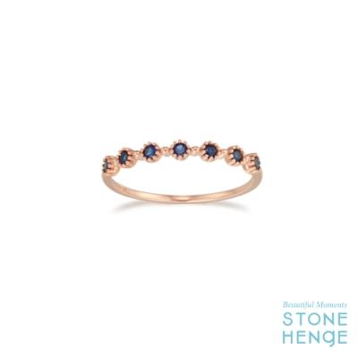 STONEHENGE 斯通亨奇 14K玫瑰金花朵造型鋯石戒指