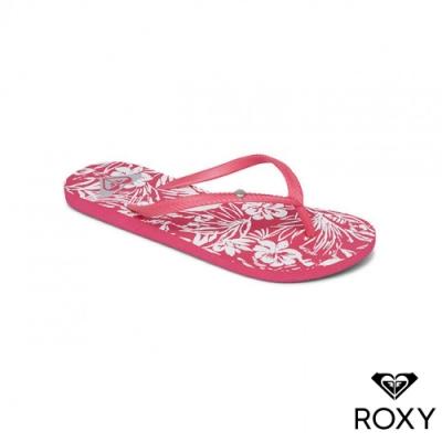 【ROXY】BERMUDA PRINT 夾腳拖 紫紅