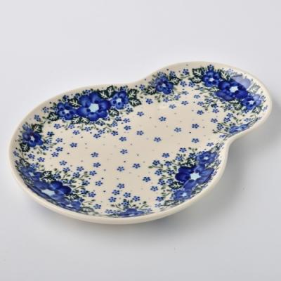 波蘭陶 青花涼夏系列 葫蘆造型餐盤 波蘭手工製