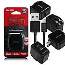 Noratec USB+TypeC大輸出3.4A雙口充電器+Type-C線-黑