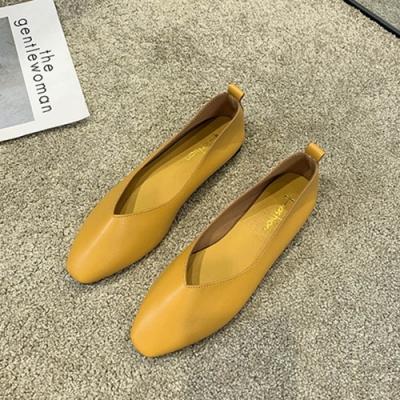 KEITH-WILL時尚鞋館 歡樂單品簡約時尚平底鞋-黃