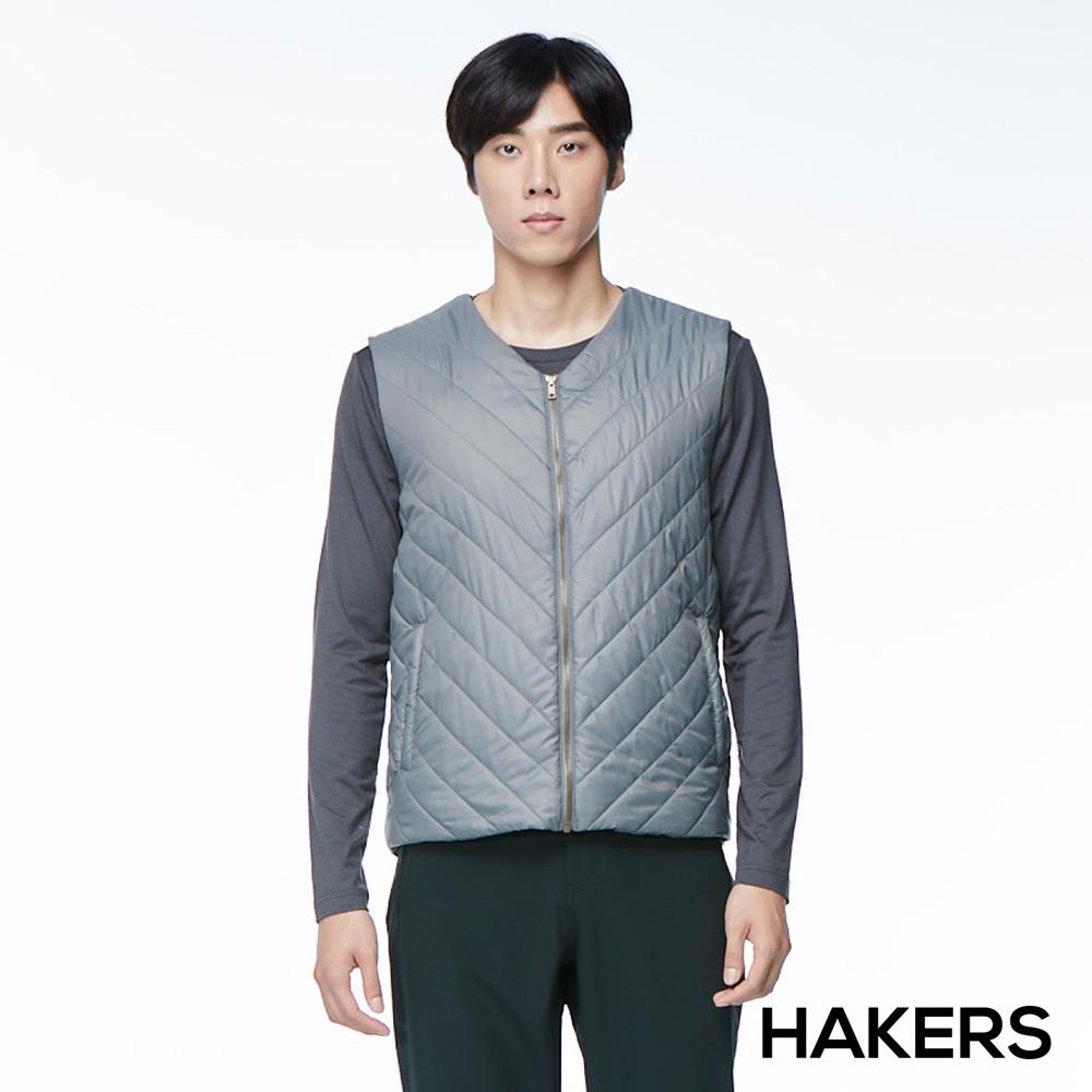 【HAKERS 哈克士】男款 保暖背心(海鷗灰)