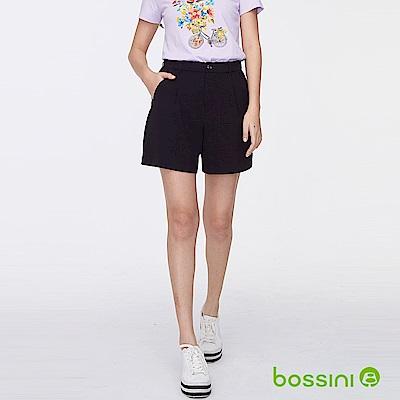 bossini女裝-時尚短褲01黑