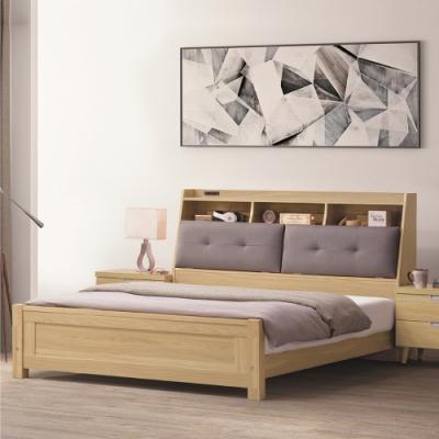 Bernice-羅德5尺原木色床台-159.5x225x106cm