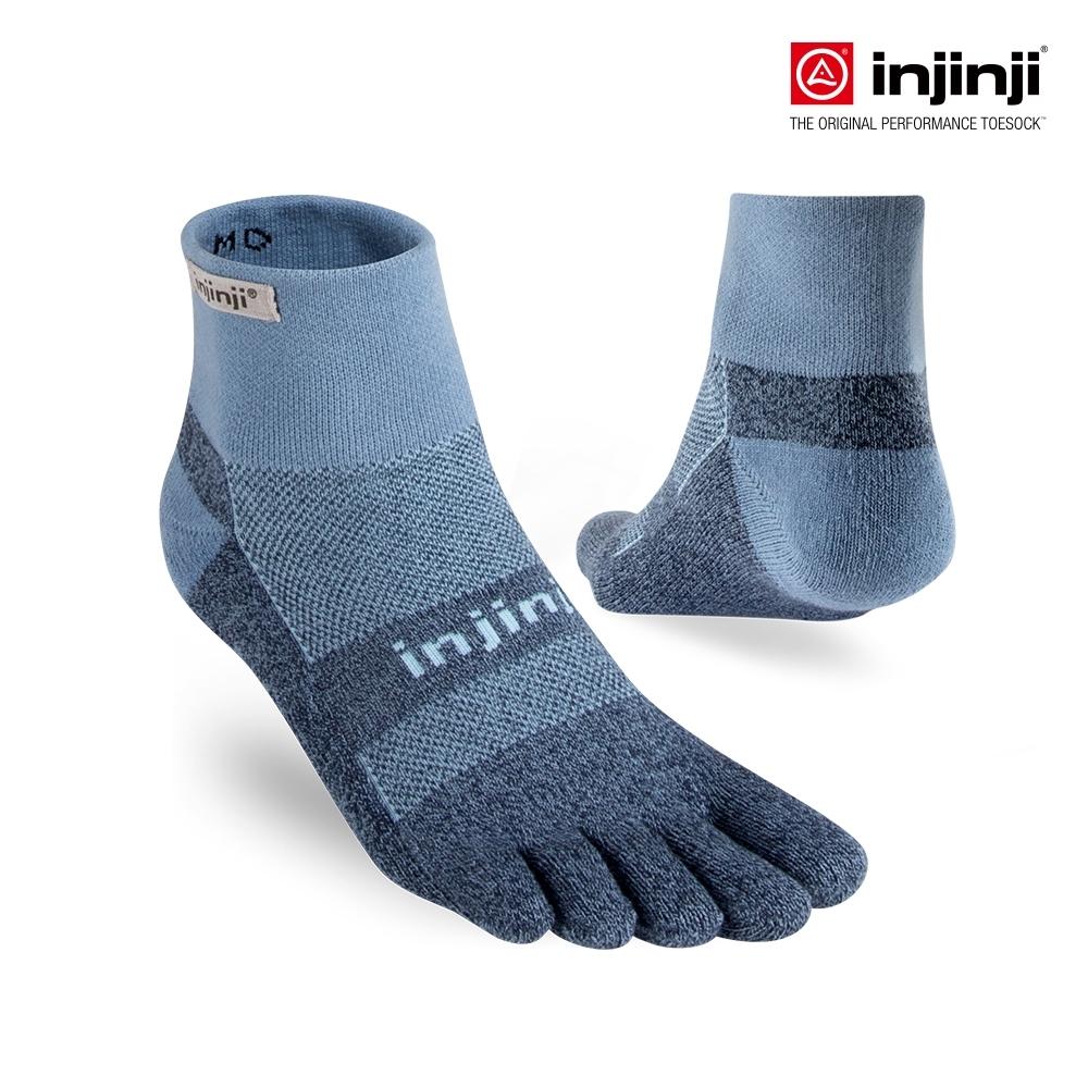 【INJINJI】TRAIL野跑避震吸排五趾短襪 [淺藍]