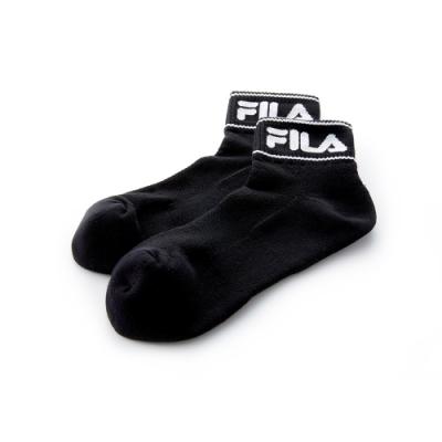 FILA 半毛巾吸排短襪-黑 SCT-5000-BK