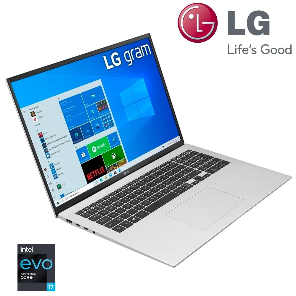 (含微軟365組合)【LG 樂金】Gram 17Z90P 17吋筆電-銀色(i7-1165G7/16G/1TB SSD/17Z90P-G.AA79C2)