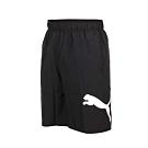 PUMA 男基本系列10吋短風褲-慢跑 路跑 平織 黑白