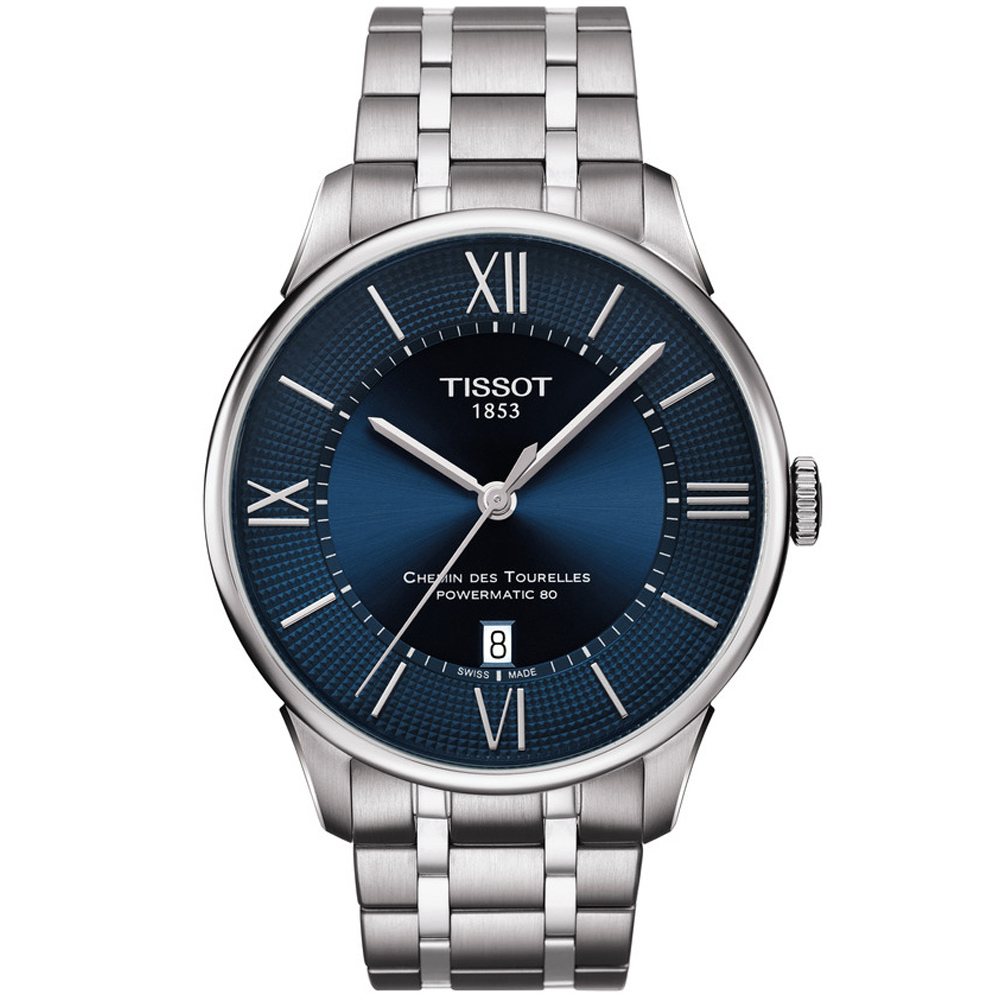 TISSOT 杜魯爾 80小時動力儲存機械腕錶(T0994071104800)42mm