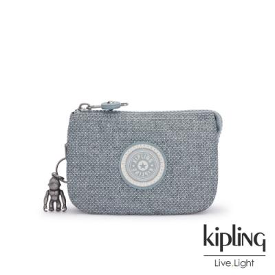 Kipling 個性淺灰藍三夾層配件包-CREATIVITY S