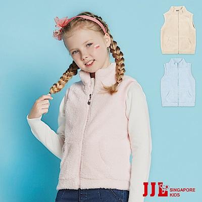 (宅配)JJLKIDS 素色刷毛保暖背心外套(3色)