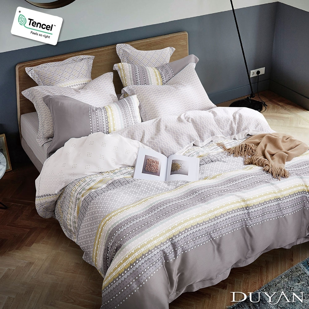 DUYAN竹漾-100%頂級萊塞爾天絲-雙人加大床包被套四件組-馬納羅拉