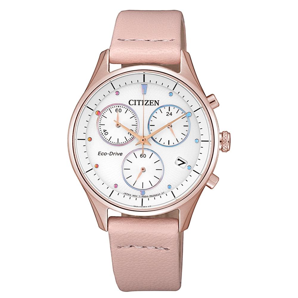 CITIZEN LADYS繽紛時刻光動能時尚腕錶FB1443-08A