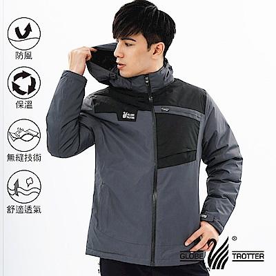【遊遍天下】男款防風透濕保暖無車縫羽絨機能外套GJ22003深灰