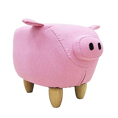 CLORIS 嘟嘟豬超萌動物造型椅/沙發矮凳/四腳椅(粉色)