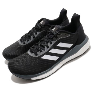 adidas 慢跑鞋 Solar Drive 19 M 男鞋 愛迪達 三線 反光 球鞋穿搭 Boost 黑 白 EH2607